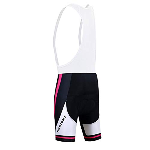 KIDITOKT MTB 5D Padded Bib Shorts Women Summer Cycling Clothes Breathable Quick Dry Bike Clothes B-XS