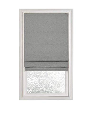 Regal Home Collections Premium Room Darkening Cordless Roman Shades - Assorted Sizes, Styles & Colors (Textured Gray, 35 in.)