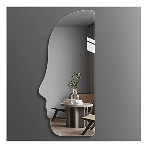 ZHANGDONG Espejo de Pared Asimétrico Sin Marco Pared/Pasta de 120x50 Cm (47,3x19,7 Pulgadas) Espejo de Pared Espejo Plateado a Prueba de Explosiones de 5 Mm para Dormitorio Sala de Estar O Baño
