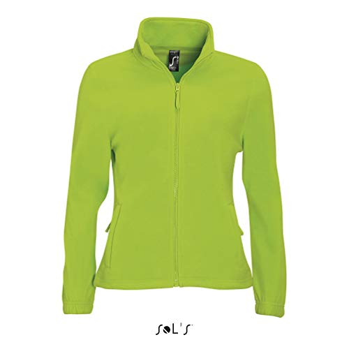 SOL´S Womens Fleecejacket North, Farbe:Lime, Größe:M