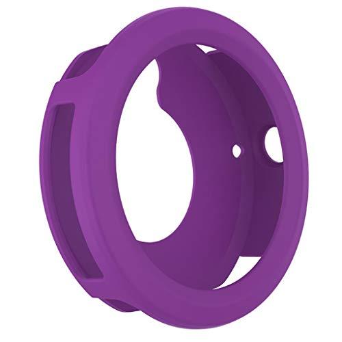 PETSOLA Carcasa Protectora de Silicona para Relojes Que Evita Arañazos para Garmin Vivoactive 3 - Púrpura