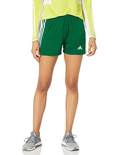 adidas Women's Squadra 21 Shorts, Team Green/White, Medium