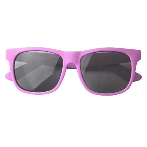 Vintage– Best First Sunglasses for Infant, Baby, Toddler, and Kids. 100% UV Protection(Fuchsia no Strap)