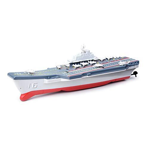 Portaaviones teledirigido 2,4 G, minibarcos de guerra teledirigidos, regalos para niños, regalos de cumpleaños 777-212
