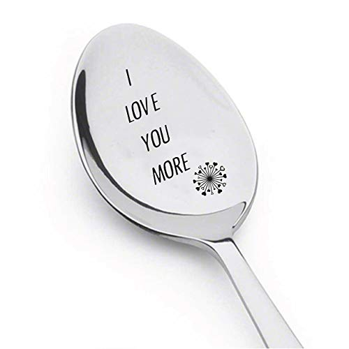 I Love You More Spoon valentines day Love mine Inspirational Gift Rocking...
