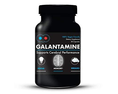 Galantamine - 6 mg - Lucid Dreaming, Nootropic, Brain Health - Vegetarian Capsules - Dye-Free