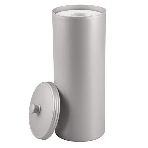 iDesign Kent Bathware, Free Standing Toilet Paper Roll Holder for Bathroom Storage - Gray