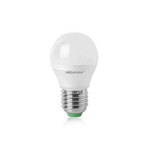 Megaman 142592 LED-Leuchtmittel, dimmbar, satte Farbe, R9, klassisches Opal, Golfball, LED-Leuchtmittel, E27, Edison-Schraube, 2800 K, Warmweiß, 5,5 W, 470 lm, A+ Bewertung,