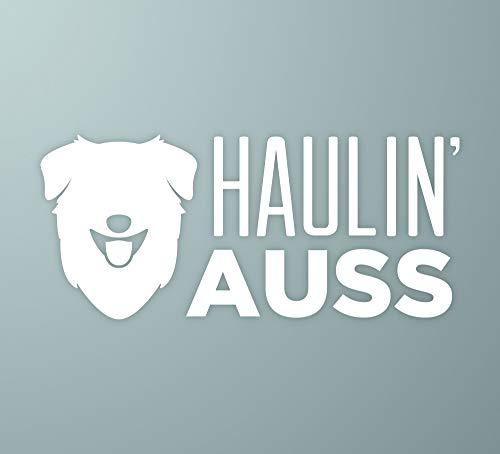 Haulin Auss   Australian Shepherd Dog Vinyl Decal