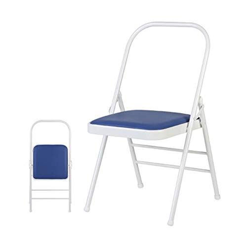 Klappstühle CJC Meditation Yoga Asana Stütze Rückenfrei Stuhl Professionel Verstärkte Yoga-Hilfsmittel (Farbe : Blau)