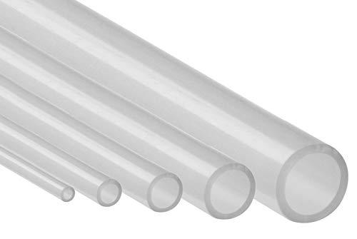 Silikonschlauch Meterware Industriequalität -60°C bis 200°C Schlauch Transparent (2mm x 4mm)