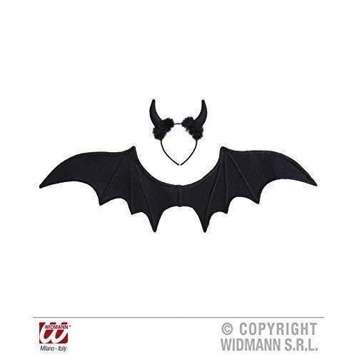 Lively Moments Noir Diable avec des Ailes et Diable/ Teufelsschwingen/Carnaval/Halloween/Costume d'halloween/Costume de Diable