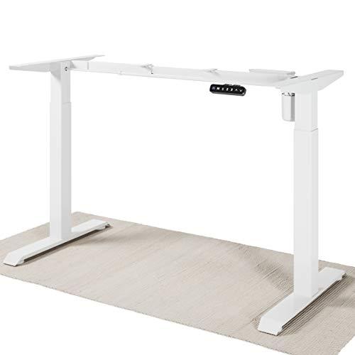 Desktronic Estructura de escritorio eléctrica ajustable en altura, para colocar tu propia mesa, altura regulable, cambio rápido entre sentado y de pie (blanco)