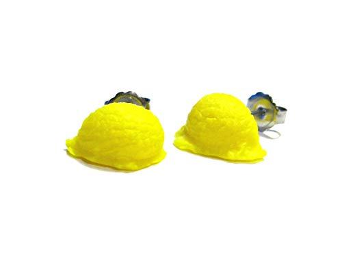 Ice Cream Scoop Earrings - Lemon - Tiny Food Jewelry