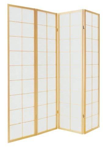 Fine Asianliving Japanischer Raumteiler L180xH180cm Paravent Shoji Reispapier 180/N4 Sichtschutz Trennwand Faltbar Raumtrenner Spanische Wand - 112-512