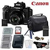 Canon PowerShot G5 X Point & Shoot Digital Camera w/1 Inch Sensor (Black) Platinum Level Bundle- International Version