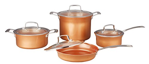 CONCORD 8 Piece Ceramic Coated -Copper- Cookware (Induction Compatible)