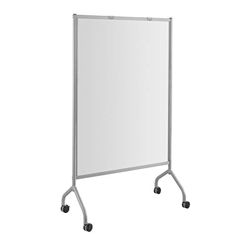 """Safco Products Impromptu Mobile Full Whiteboard Screen Double-sided Magnetic Dry Erase Board, Commercial-Grade Steel Frame, Swivel Wheels, Accessory Shelf, 42""""W x 72""""H, Gray"""