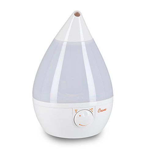 Crane USA Humidifiers - Ultrasonic Cool Mist Humidifier, Filter-Free, 1 Gallon, for Home Bedroom Baby Nursery and Office, White