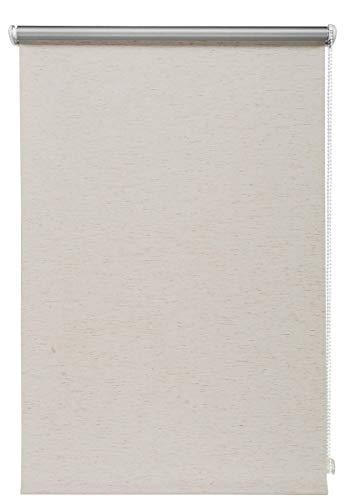 Thermo-Rollo Granit 80x210 cm ohne Bohren Verdunkelungsrollo Seitenzugrollo Klemmrollo Blackout Silberbeschichtung