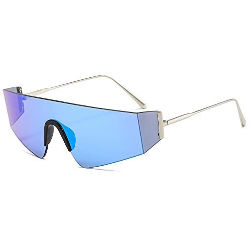 ShZyywrl Gafas De Sol De Moda Unisex Gafas De Sol Sin Montura De Una Pieza para Mujer Y Hombre, Gafas De Sol Cuadradas para Hombre, Anteojos Retro De Gran Tama