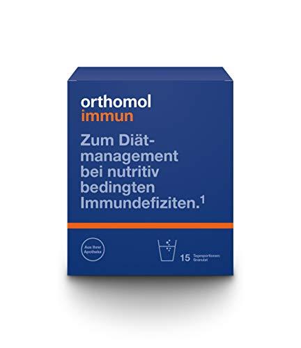 Orthomol immun 15er Granulat - Vitamine & Spurenelemente für die Abwehrkräfte - Unterstützung für das Immunsystem