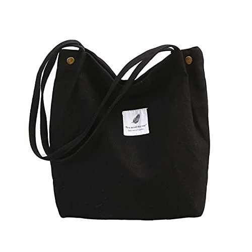 Damen Umhängetaschen Canvas Handtasche Shopper Casual groß Tasche Chic Schultertasche Einkaufstasche Henkeltasche für Schule Shopping Arbeit Alltag Einkauf