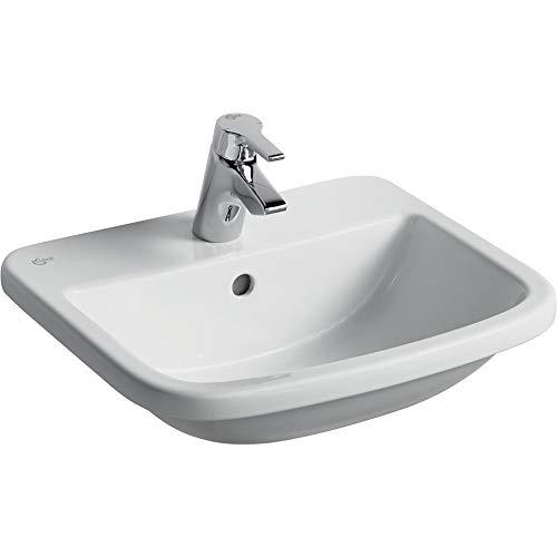 Ideal Standard T059201 Tempo Aufsatzwaschbecken mit 1 Hahnloch, 500 mm