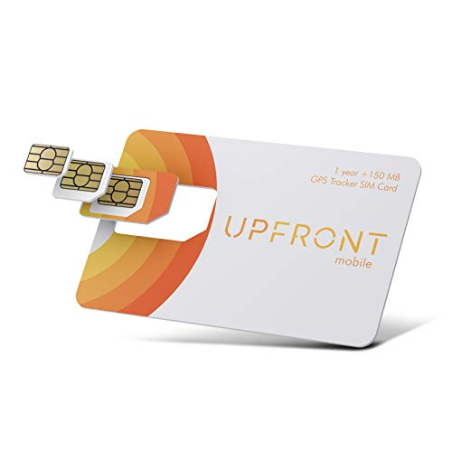 Upfront Mobile GPS Tracker SIM Card | 150MB and 1 Year of Service Included | AT&T & T-Mobile in The US + Coverage in North & South America
