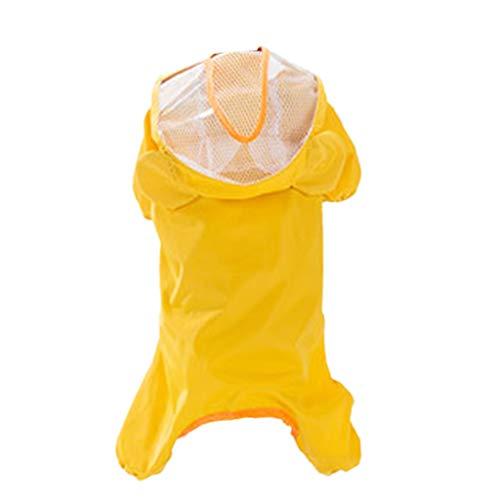 Congchuaty Geel Lichtgewicht Transparant Hooded Hond Regenjas Waterdicht Verpakbare Regenjas Large Zoals op de foto te zien is