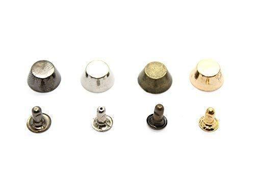 Trimming Shop 10mm Spike Cone Studs met Pins voor Leer Ambachten - Decoratieve Button klinknagels voor Handtassen, Jeans, Riemen, Jassen - Sluiting voor Naaien en Kleding Reparatie - Punk en Goth Accessoire