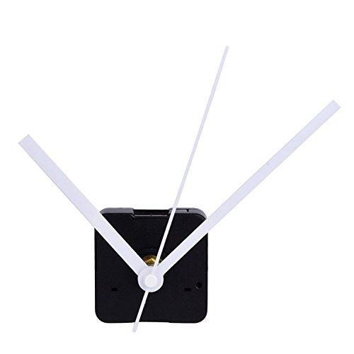 Stilles Quarzuhrwerk Mechanismus Reparaturwerkzeug, Maximale Zifferblatt von 11/25 Zoll dick, Gesamtschaftlänge von 4/5 Zoll,Weiß