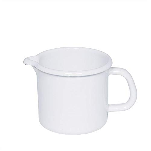 Riess - Schnabeltopf - Milchtopf - Emaille - weiß Ø 14cm - 1.7 Liter