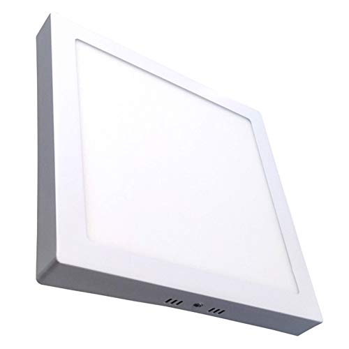 Pack 5x Plafon LED cuadrado superficie,18w. Color Blanco Frio (6500K). 1600 Lumenes. 220mm x 220mm.