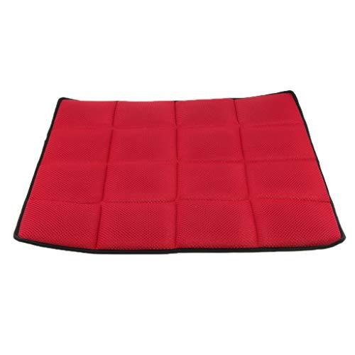 Hellery Universal Sitzkissen Sitzauflagen Autositzbezüge Bambuskohle Sitzauflage - rot