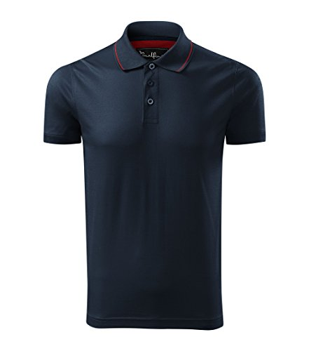OwnDesigner by Adler Modisches Herren Poloshirt Grand - Super Premium Stoff & Shirt Schnitt | 100% merzerisierte Baumwolle Seidenglanz | S - XXXL (259-Navy-2XL)
