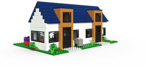 Casa doble de bloques de construcción modular con minifiguras