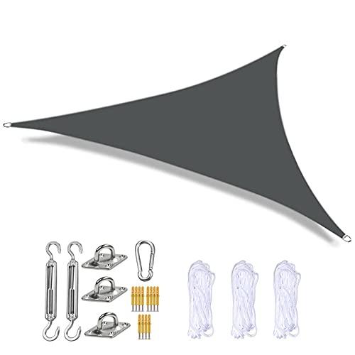 Willsky Sun Shade Sails Triángulo Impermeable Jardín Patio Cubierta De Toldo De Bloque UV 5x5x5m Toldos Al Aire Libre con Kit De Fijación