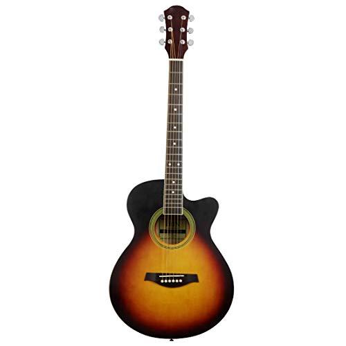 NUYI Guitare Acoustique De 40 Pouces pour Les Étudiants Débutants Au Coucher du Soleil Enseignant 40 Pouces De Manque De Guitare Acoustique d'angle pour Envoyer Un Ensemble Complet D'accessoires