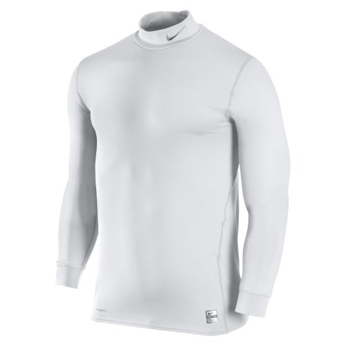 NIKE Camiseta Long Sleeve Top, Hombre, Color White/Medium Grey, tamaño Extra-Large