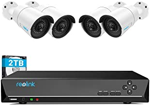 REOLINK 4MP 8CH PoE Security Camera System for Home and Business, 4pcs Wired Indoor Outdoor 1440P PoE IP Cameras, 8MP 8CH NVR with 2TB HDD for 24-7 Recording RLK8-410B4