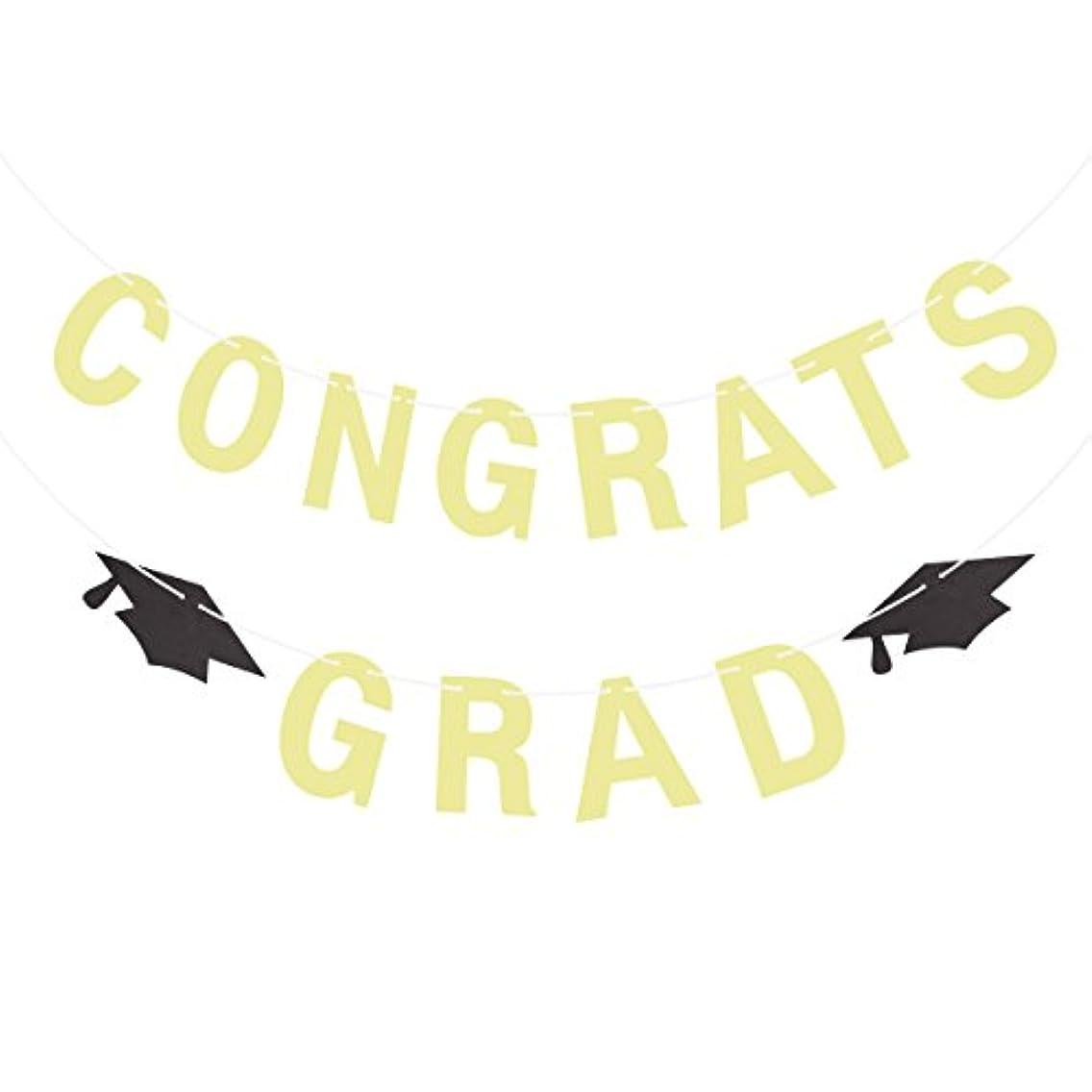 BESTOYARD CONGRATS GRAD Congrats Banner Congratulations Banner Doctorial Hat 2018 Graduation Banner Graduation Party Decoration