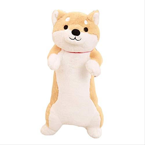 HPMM Plüschtier-Netter Plüsch-Hund, Plüsch-Plüschtier-Puppen-Spielzeug-Welpe, der Kissen umarmt (Size : 100cm) (Size : 80cm)