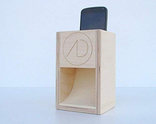 sKupy, cassa amplificatore altoparlante naturale in legno per smartphone