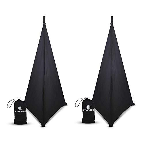 PRORECK Speaker Stand Cover Tripod Stand Skirt Skrim 360 Degree Cover Black x 2