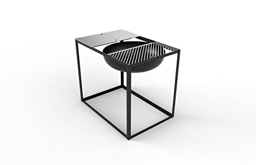 Konstantin Slawinski Brasero avec fonction Barbecue Slide 700 - Noir - 84 x 57 x 70 cm