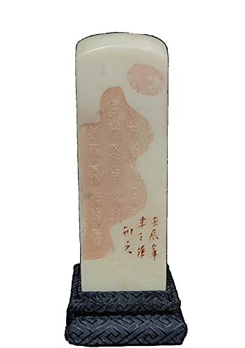 LAOJUNLU Colección de inscripciones de piedra congelada blanca exquisitamente tallada antigua obra maestra colección de solitario chino tradicional joyería