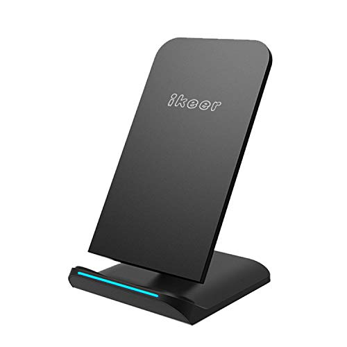 Wireless Charger, ikeer Fast Wireless Charging Stand,10W(MAX) compatible with iPhone 11,11 Pro,11...
