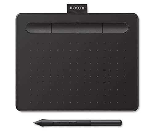 Wacom Intuos Small Black, Graphic Tablet for Painting, Sketching and Photo Retouching with 1 Creative Software Download - Ideal for Work from Home & Remote Learning