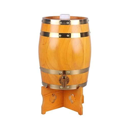 LIWine Barril de Vino de Madera Barril De Roble De 5L, Barril De Roble Personalizado Barril De Vino Hogar Barril De Vino Decoración Barril De Vino Boda Barril De Vino (Color : Yellow)